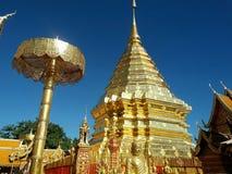De pagode van Phra tat Doi Suthep Stock Afbeelding