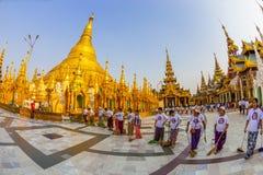 De pagode van Shwedagon Stock Foto's