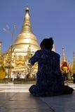 De pagode van Shwedagon, Myanmar April 2012 Stock Afbeeldingen