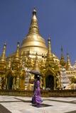 De pagode van Shwedagon, Myanmar April 2012 Stock Fotografie