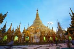 De pagode van Shwedagon in Yagon, Myanmar Stock Afbeelding