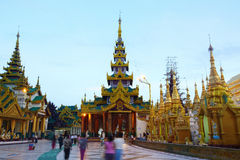 De pagode van Shwedagon in Yagon, Myanmar Royalty-vrije Stock Foto's