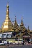 De Pagode van Sule - Yangon - Myanmar Stock Fotografie