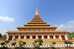 De pagode in Wat Nongwang, Khon kaen Thailand Stock Foto