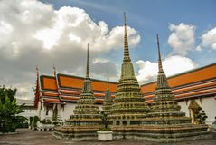 De pagode is in Wat Pho Bangkok Thailand Royalty-vrije Stock Foto