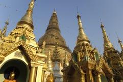 De Pagode Yangon Myanmar Birma van Shwedagon stock afbeelding