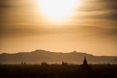 De Pagoden van Bagan Stock Foto's