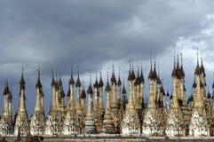 De pagoden van Indein Stock Foto