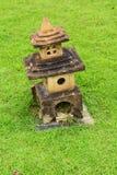 De pagodesteen is klein, Maart 2015 in Suphan Buri in Thailan Royalty-vrije Stock Afbeelding