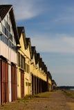 De pakhuizen van de haven Royalty-vrije Stock Foto's