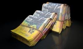 De pakjes van Nota's stapelen Dark op Royalty-vrije Stock Afbeeldingen