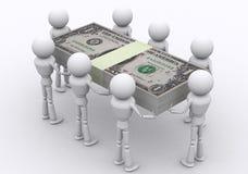 De pakken van de dollar. Stock Fotografie