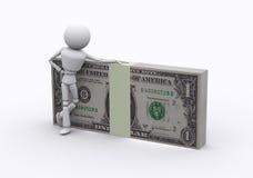 De pakken van de dollar. Royalty-vrije Stock Foto's