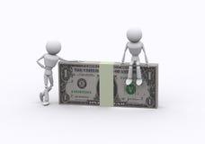 De pakken van de dollar. Royalty-vrije Stock Afbeeldingen