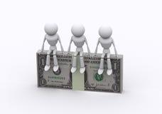 De pakken van de dollar. Stock Afbeelding