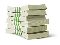 De pakken vectorillustratie van het geld voor bankwezen Royalty-vrije Stock Afbeelding