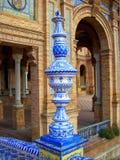 De Palacialbouw met ceramische leuning Stock Fotografie