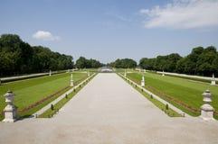 De paleis-tuin van Nymphenburg stock afbeeldingen
