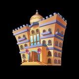 De Paleizen Arabische Architectuur van woestijnemiraten De Kaartobjecten van spelactiva Gebouwen royalty-vrije illustratie