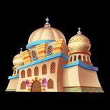 De Paleizen Arabische Architectuur van woestijnemiraten De Kaartobjecten van spelactiva Gebouwen vector illustratie