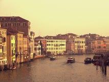De paleizen van Grande van het kanaal in Venetië Stock Foto's