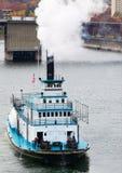 De paleta del barco del título río abajo Foto de archivo libre de regalías