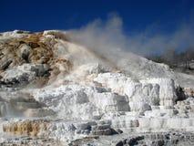 De paletlente, de Mammoetlentes, Yellowstone Stock Afbeelding