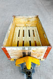 De pallet van de doos Stock Foto