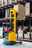 De pallet van Forklifter Stock Foto