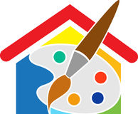 De pallets van het huis stock illustratie
