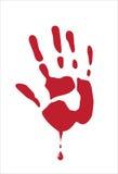De palm van het bloed op wit Royalty-vrije Stock Afbeelding