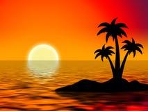 De palmen van de boom Stock Afbeelding