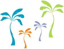 De Palmen van de pastelkleur Stock Foto