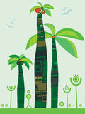De palmen van de wildernis Stock Foto's