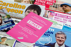 De pamfletten van de de Burgemeesterverkiezing van Londen Stock Foto