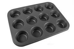 De Pan van de muffin Royalty-vrije Stock Afbeeldingen
