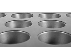 De Pan van de muffin Stock Fotografie