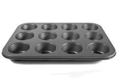 De Pan van de muffin Royalty-vrije Stock Foto