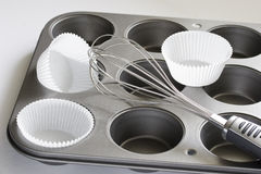 De pan van muffins Royalty-vrije Stock Fotografie