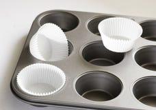 De pan van muffins Stock Afbeeldingen