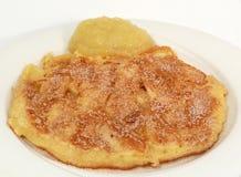 De Pancake van de appel Royalty-vrije Stock Fotografie