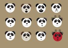 De panda draagt gezichtsemoji Royalty-vrije Stock Fotografie
