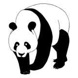 De panda draagt illustratie Stock Afbeeldingen