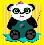 De panda draagt met Wierook stock illustratie