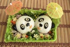 De panda's wordt het gemaakt van rijst Royalty-vrije Stock Fotografie