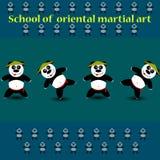 De Panda van de kungfu Stock Afbeelding