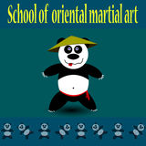 De Panda van de kungfu Royalty-vrije Stock Afbeeldingen