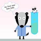 De panda van de reageerbuisbaby Stock Afbeelding