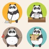De panda van het beeldverhaal Stock Afbeeldingen
