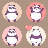 De panda van het beeldverhaalmeisje Stock Illustratie
